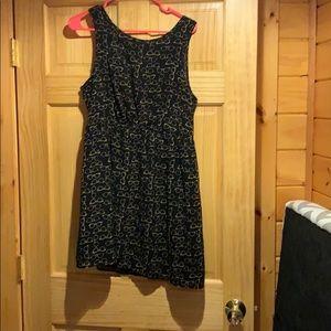 Black glasses print dress. Size large.